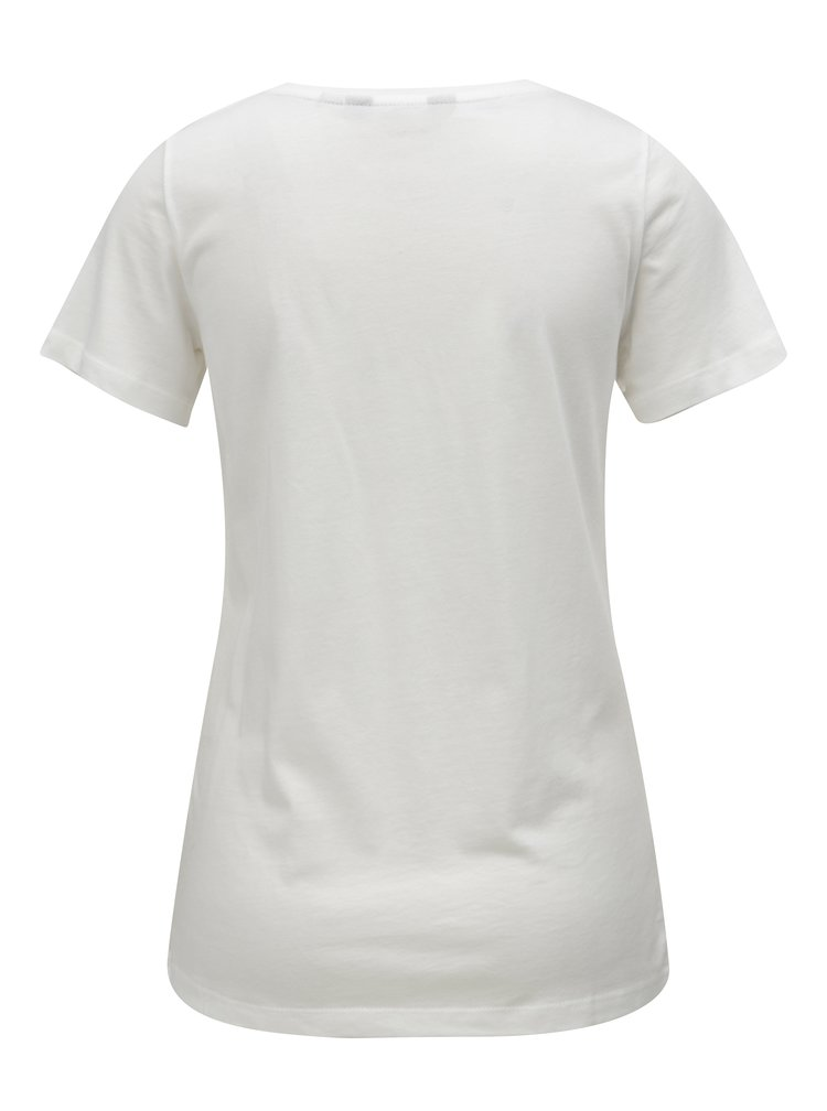 Krémové tričko s flitry s motivem plameňáků Dorothy Perkins