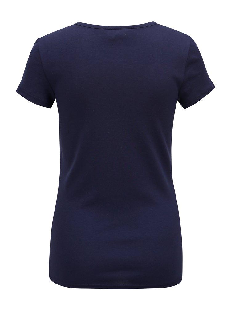Tmavě modré tričko s krátkým rukávem Dorothy Perkins