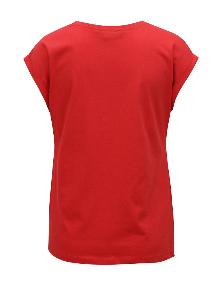 Červené tričko s krátkým rukávem Dorothy Perkins