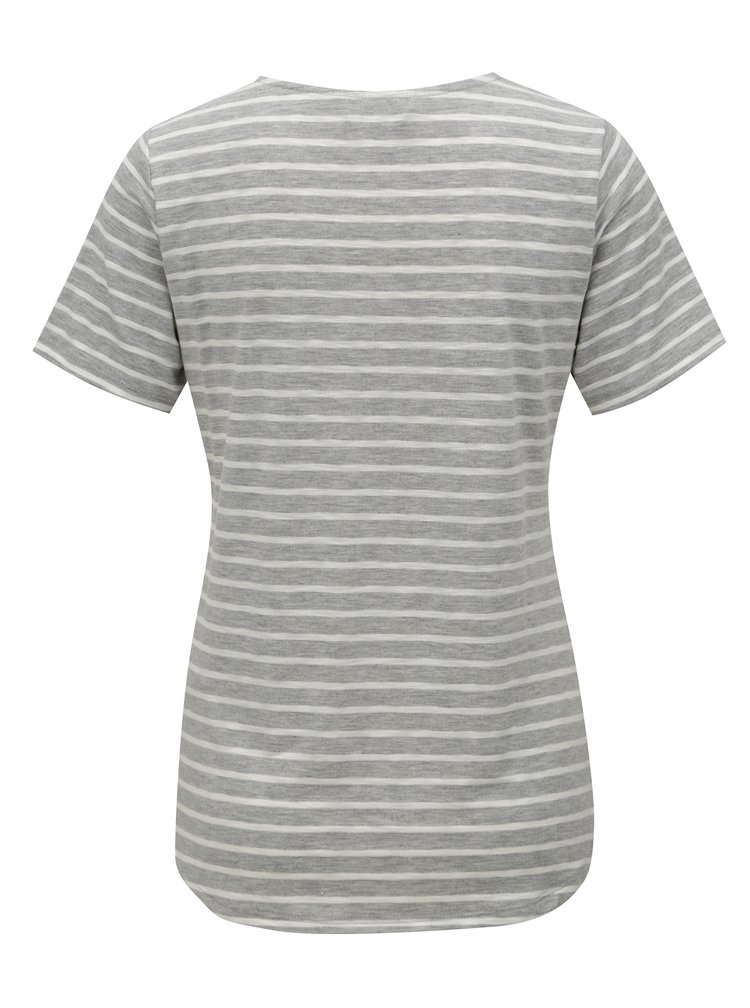 Tricou gri-roz in dungi Dorothy Perkins