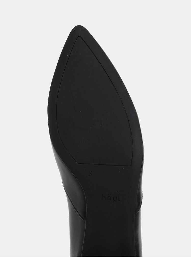 Černé kožené baleríny Högl