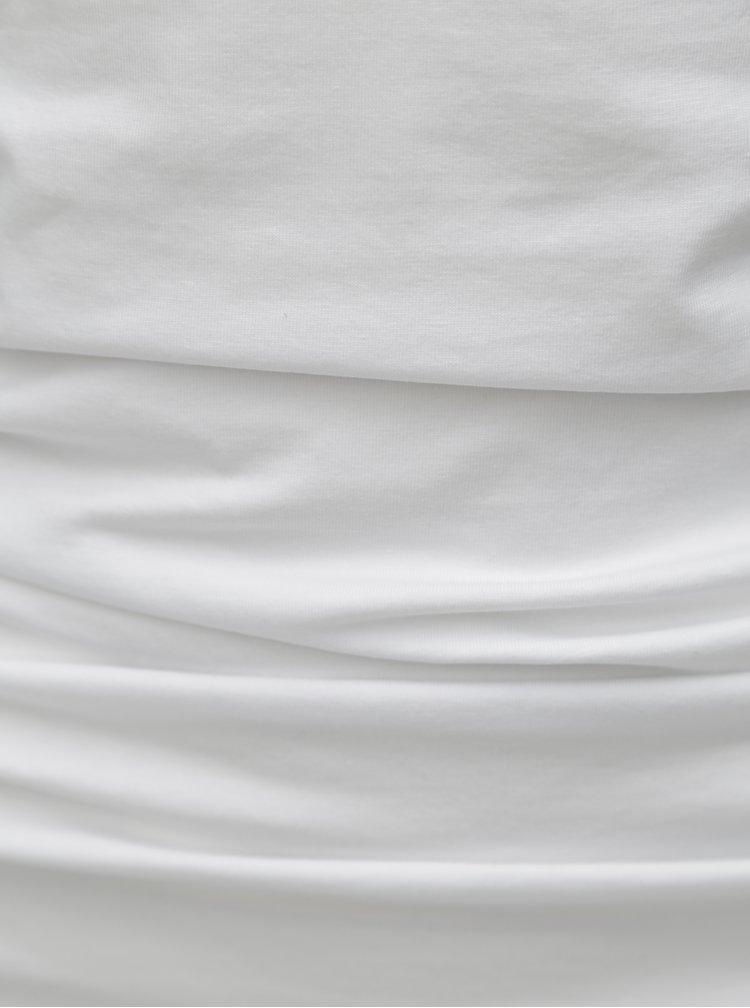 Bílý top bez ramínek Dorothy Perkins