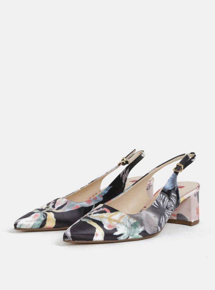 Růžovo-černé sandálky na nízkém podpatku Högl