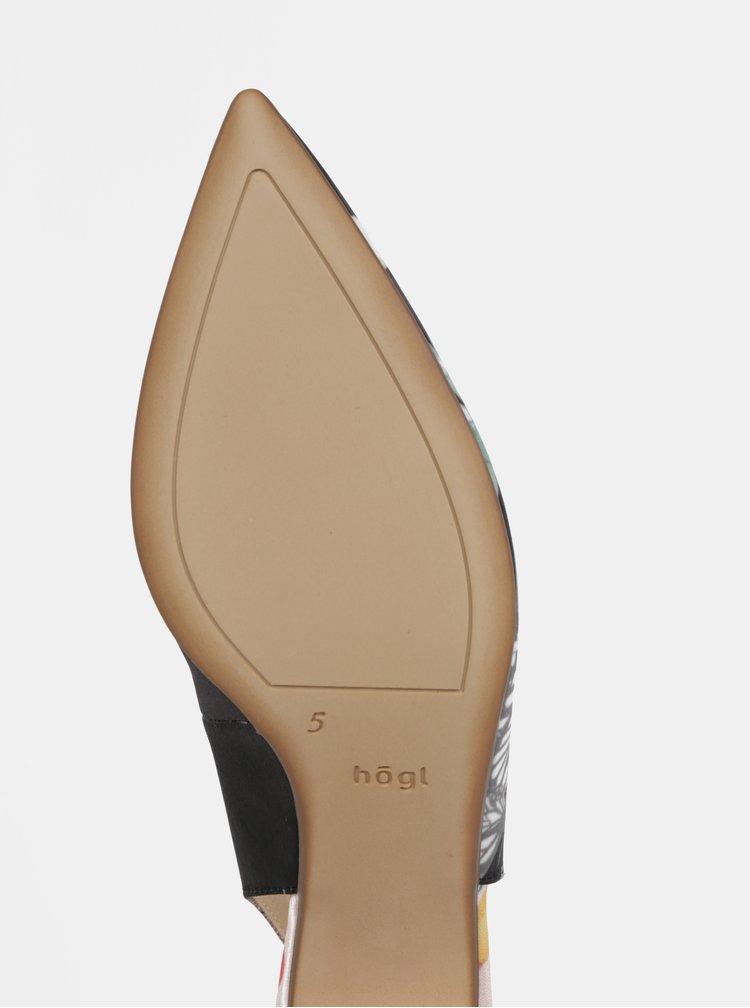 Sandale roz & negru cu toc mic - Högl