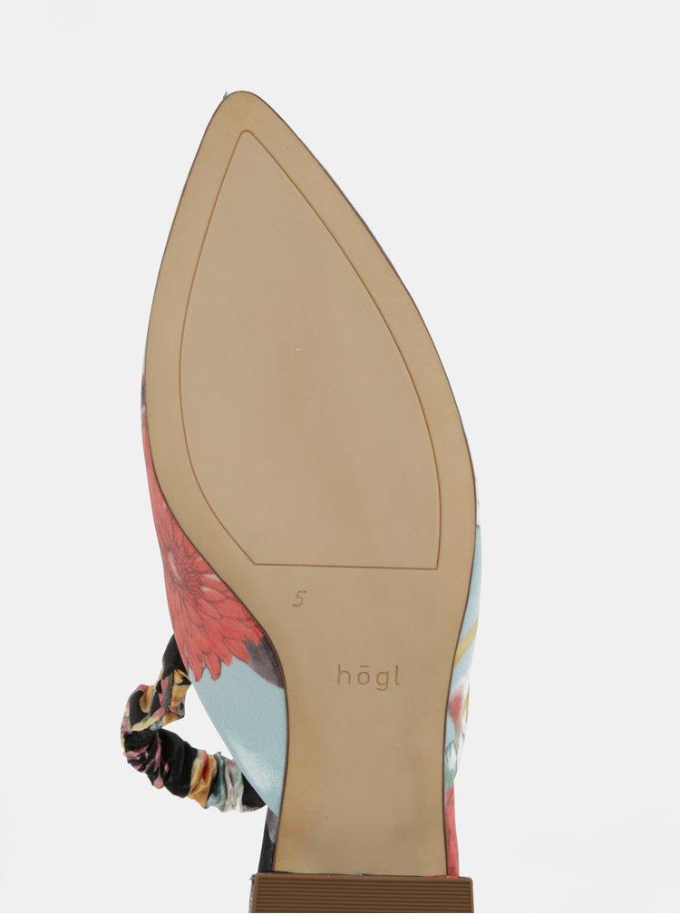 Modro-černé květované sandálky Högl