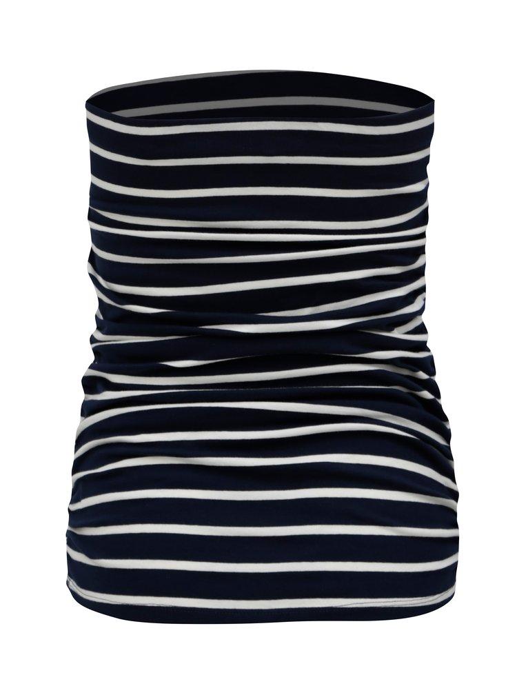 Tmavě modrý pruhovaný top bez ramínek Dorothy Perkins
