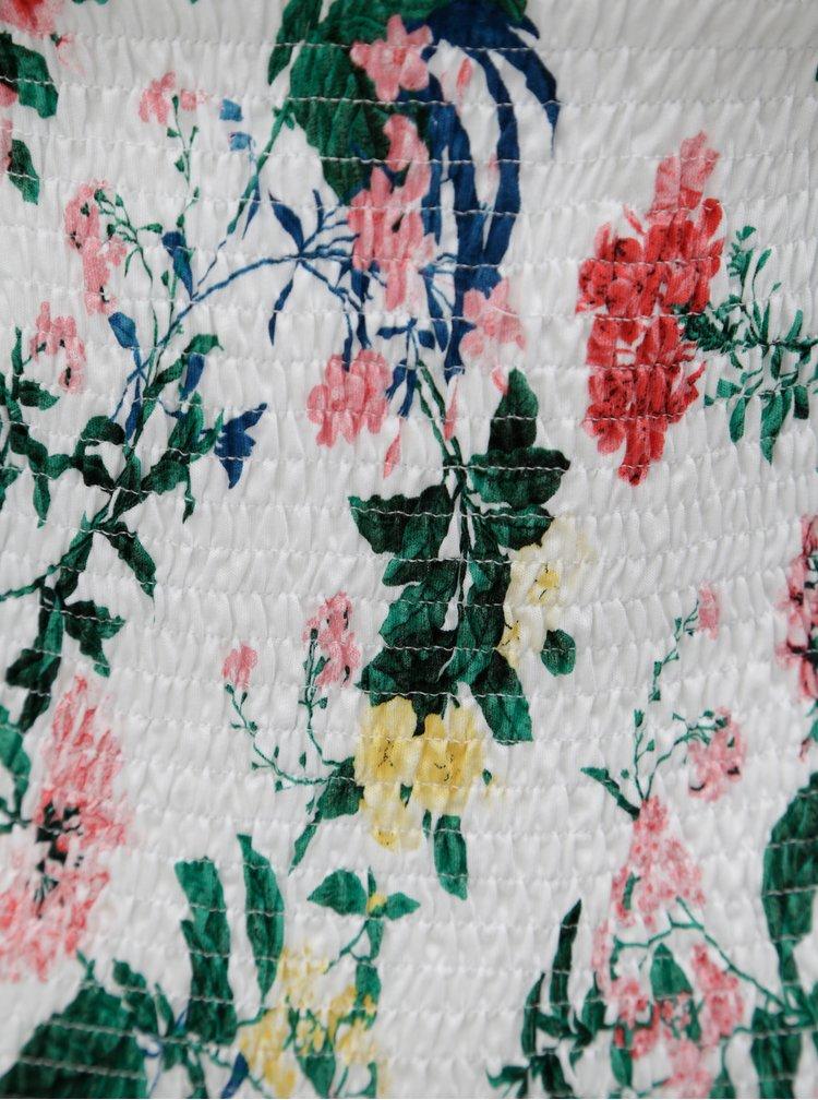 Biele kvetované pružné tričko Dorothy Perkins