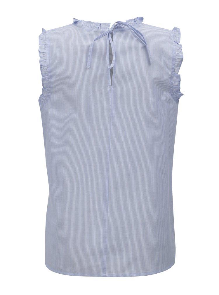 Bluza albastru deschis in dungi cu madeira Dorothy Perkins
