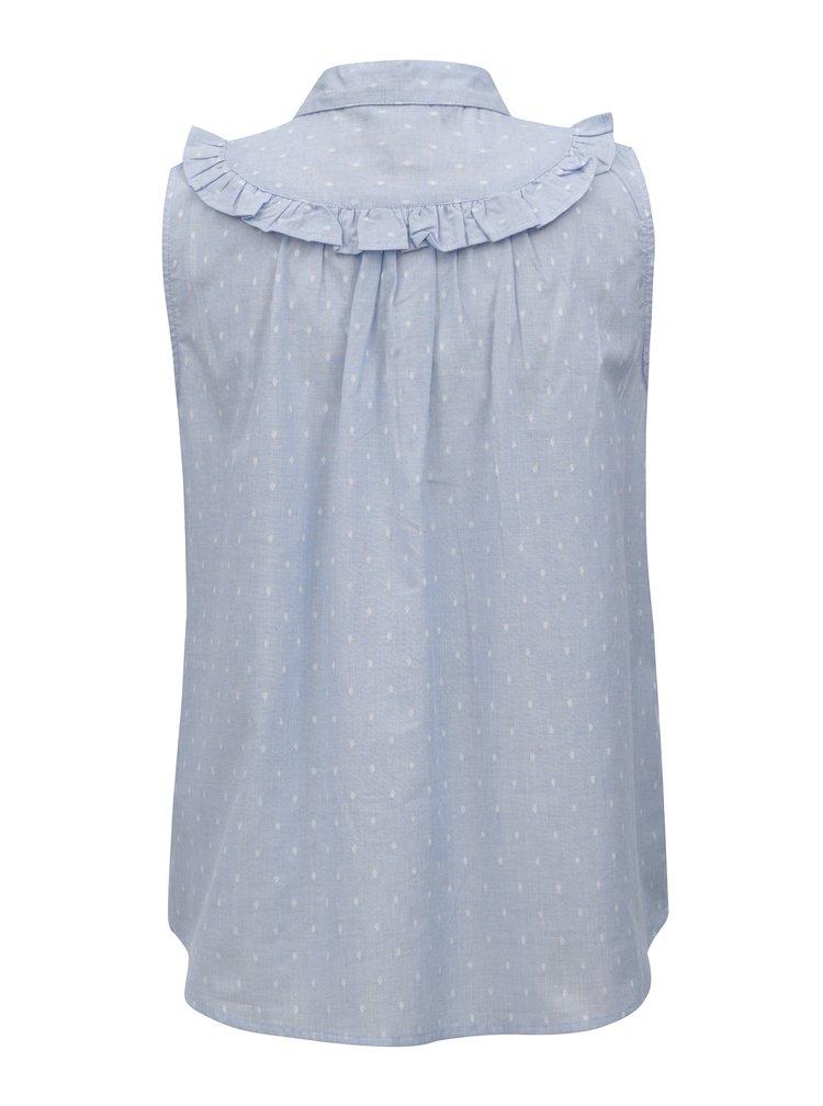 Světle modrá vzorovaná halenka bez rukávů Dorothy Perkins