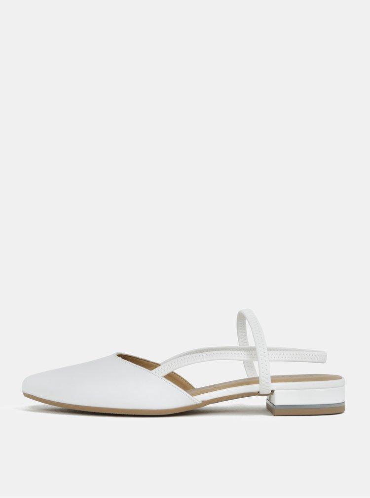 Bílé kožené sandálky s plnou špicí Tamaris