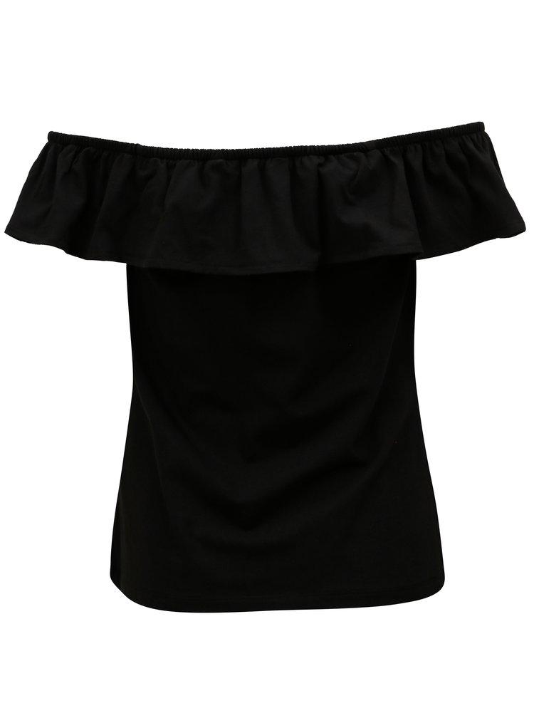 Černá tričko s květovaným potiskem Dorothy Perkins