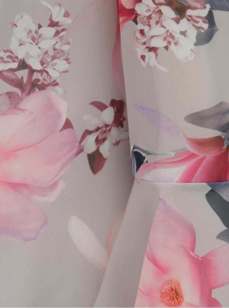 Šedá květovaná halenka s 3/4 rukávem Billie & Blossom
