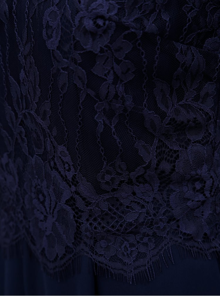 Tmavě modrý overal s krajkovým topem Dorothy Perkins