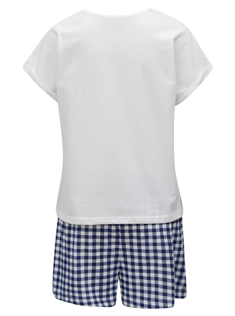 Modro-krémové dvoudílné pyžamo Dorothy Perkins