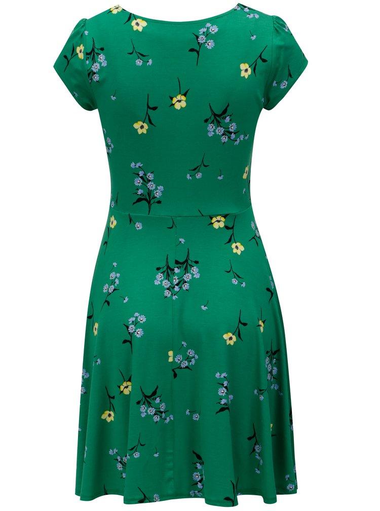 Zelené květované šaty Dorothy Perkins Petite