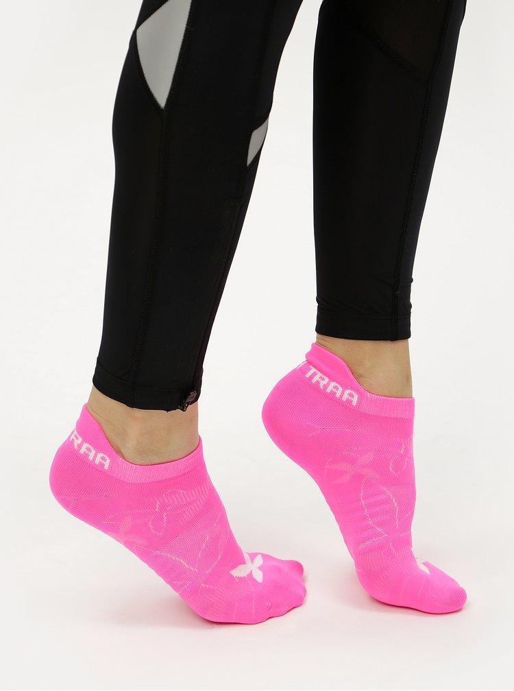 Neonově růžové ponožky Kari Traa Butterfly