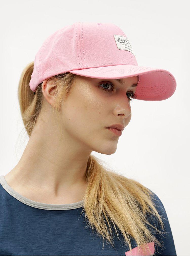 Růžová kšiltovka Kari Traa Tvinde