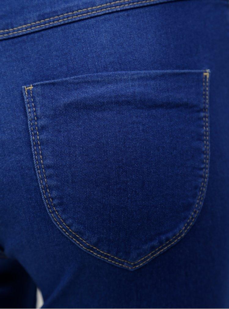 Modré zkrácené jeggings Dorothy Perkins