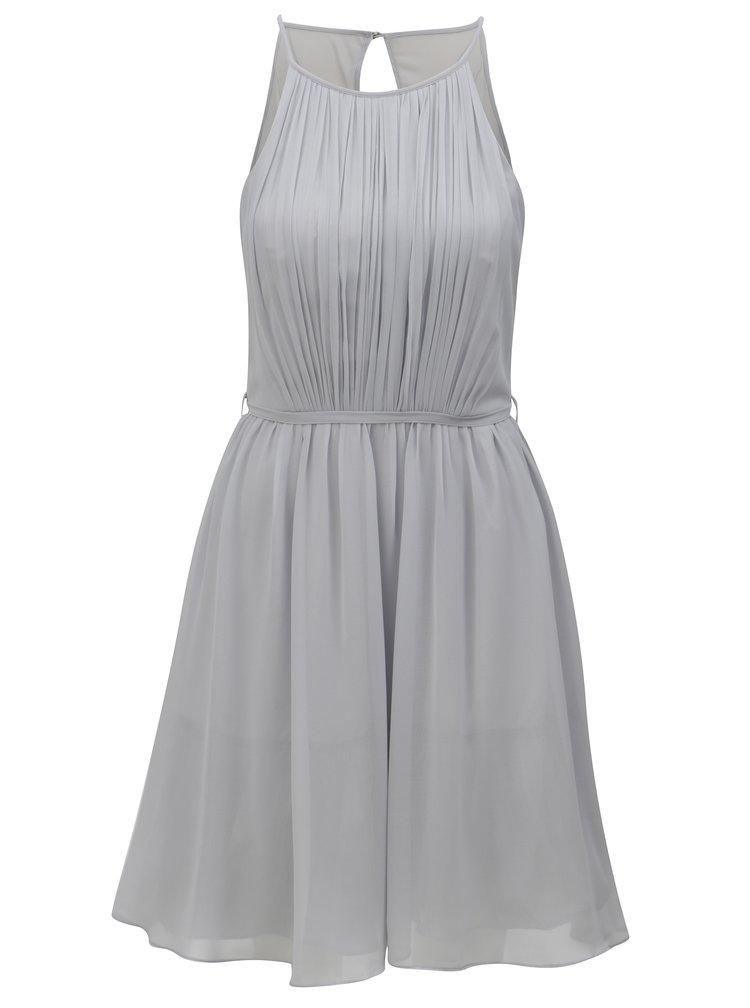 Šedé šaty s průstřihem na zádech Dorothy Perkins