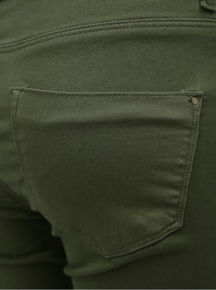 Khaki zkrácené skinny džíny Dorothy Perkins Petite
