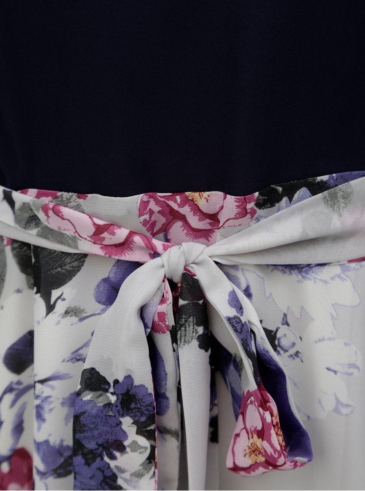 Rochie albastru-gri cu model floral Billie & Blossom