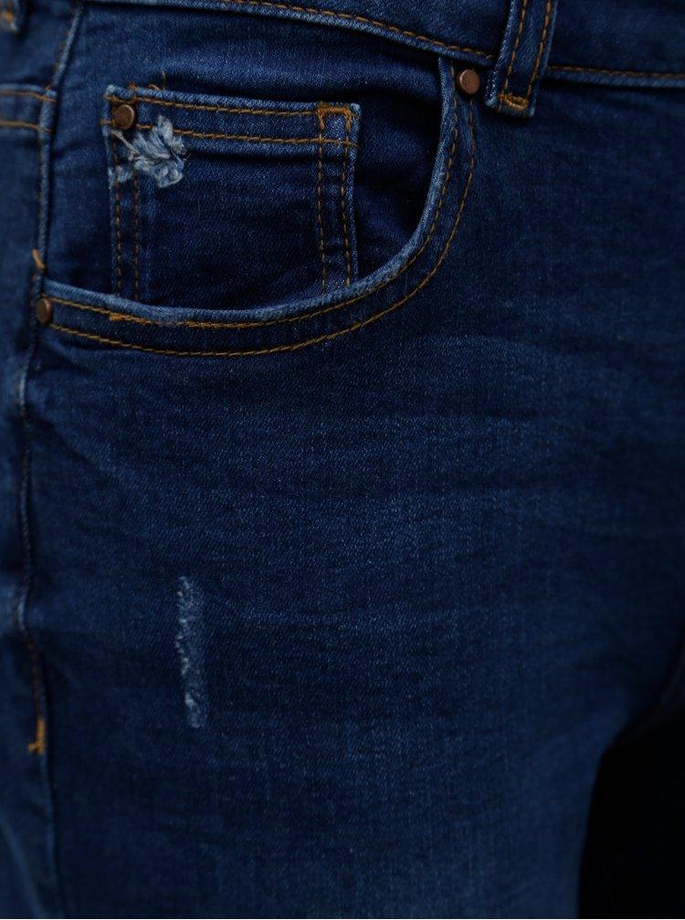 Tmavě modré zkrácené straight džíny Dorothy Perkins Petite