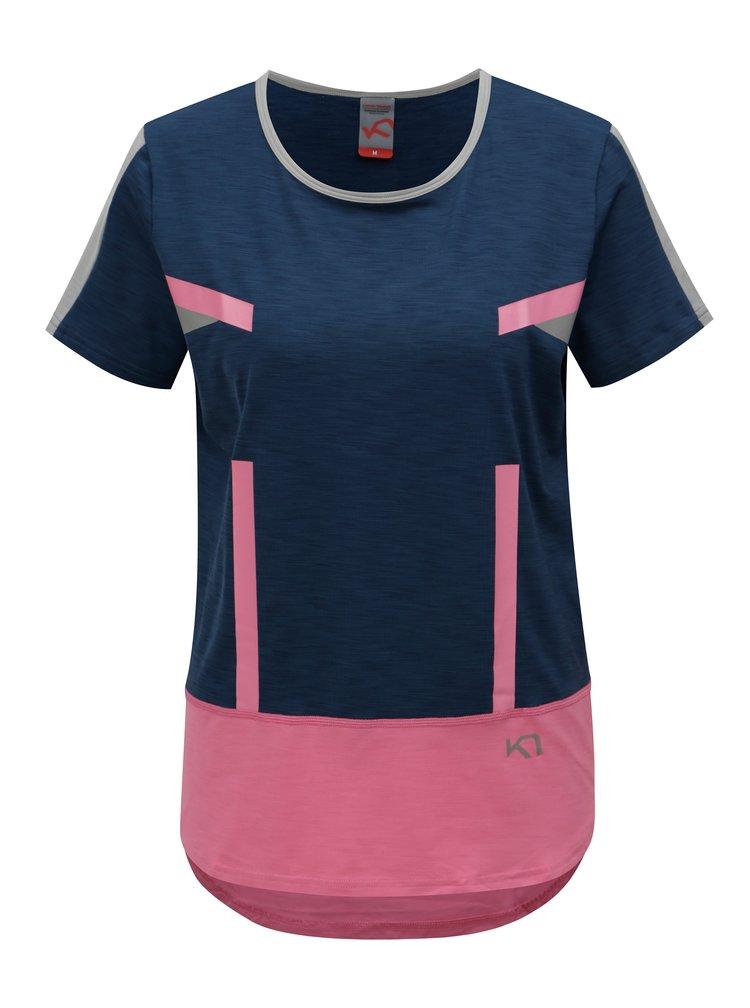 Modro-růžové tričko Kari Traa Anita Tee