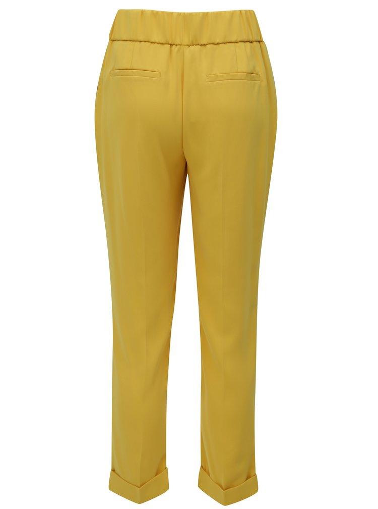 Žluté zkrácené volné kalhoty Dorothy Perkins