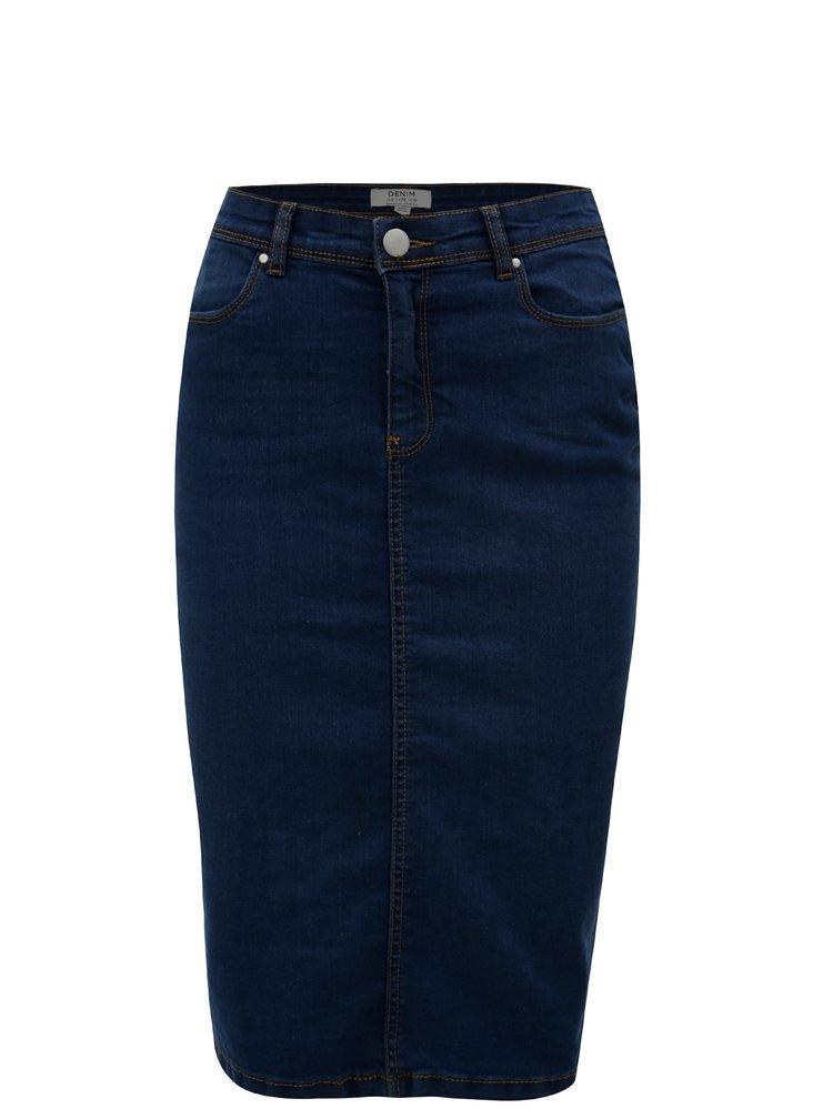 Tmavě modrá džínová pouzdrová sukně Dorothy Perkins