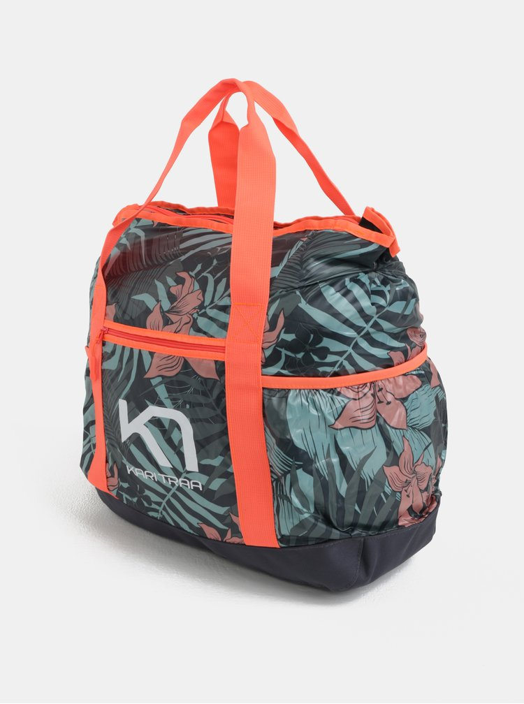 Zeleno-oranžová vzorovaná sportovní taška Kari Traa Røthe