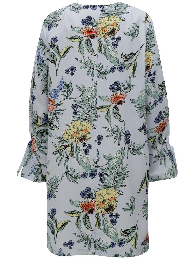 Světle modrý květovaný lehký kabát Dorothy Perkins Curve