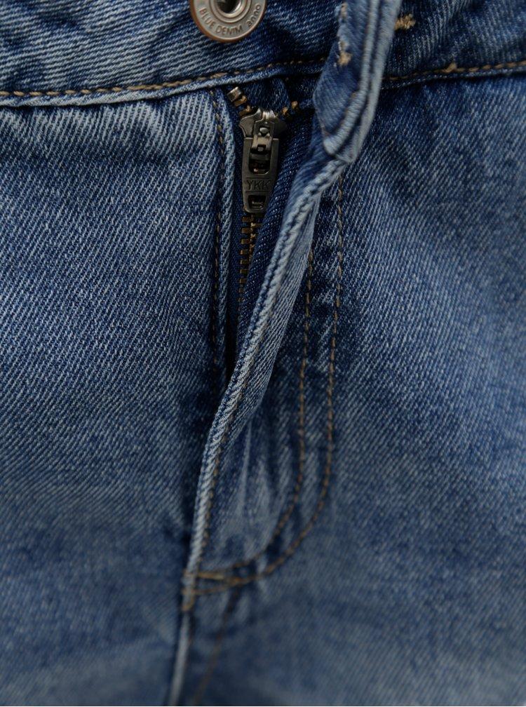 Modré džínové kraťasy s krajkou ONLY Carmen