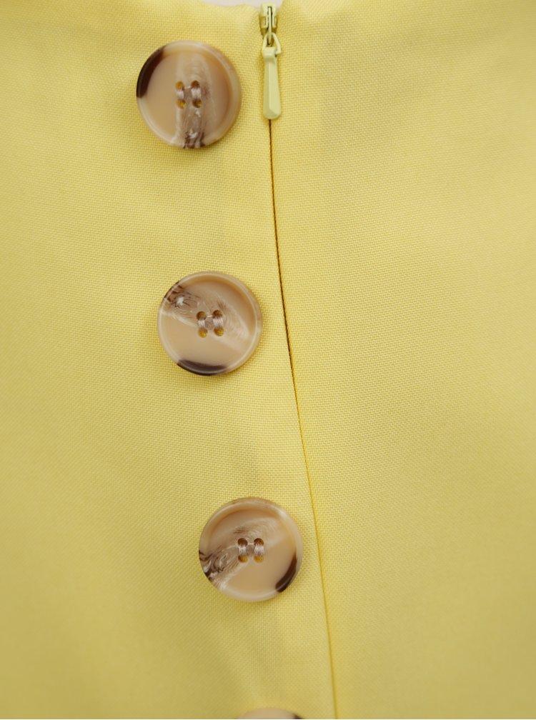 Žlté kraťasy s vysokým pásom Miss Selfridge