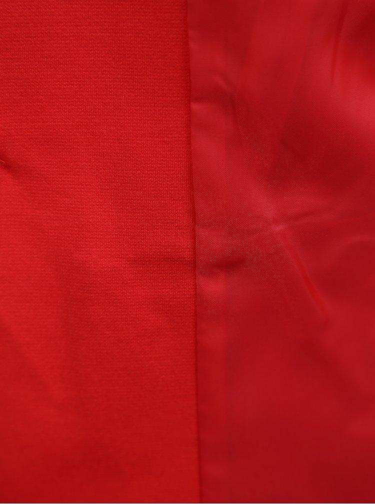 Červené sako s 3/4 rukávy Miss Selfridge