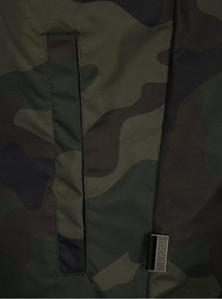 Tmavě zelená pánská maskáčová voděodolná bunda NUGGET Kubsov