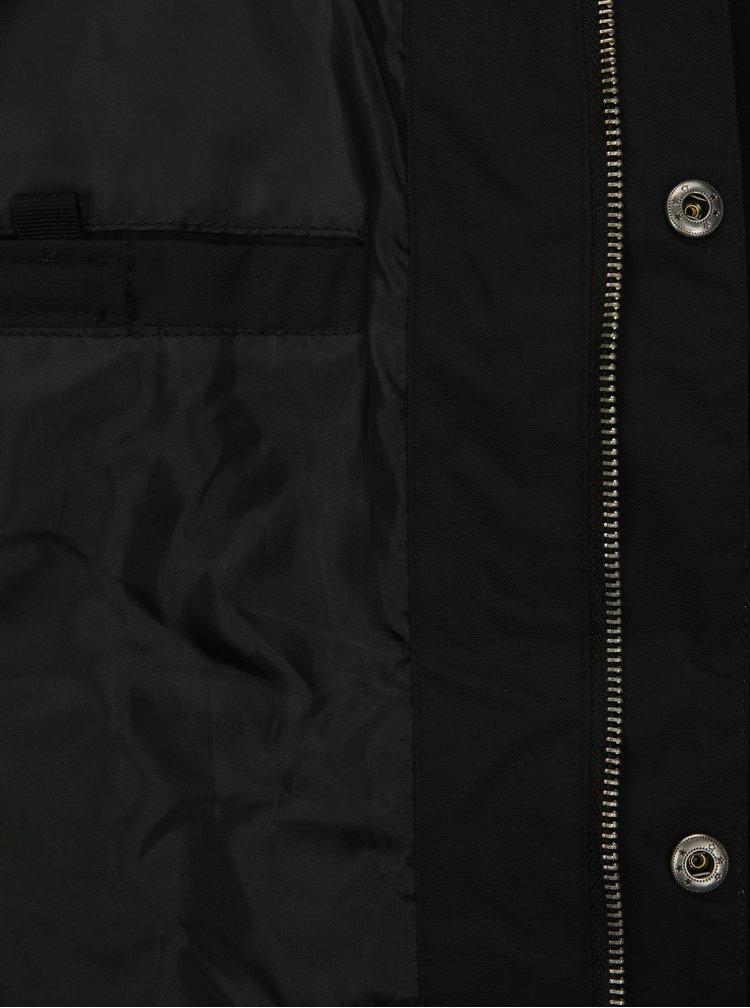 Jacheta barbateasca neagra impermeabila NUGGET Kubsov