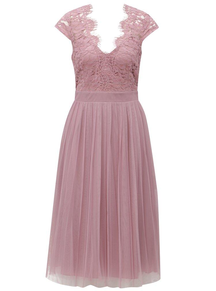 Starorůžové šaty s tylovou sukní Little Mistress