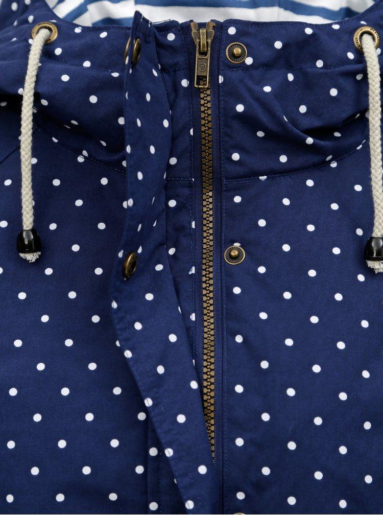 Modrá dámská puntíkovaná nepromokavá parka MEATFLY Victory