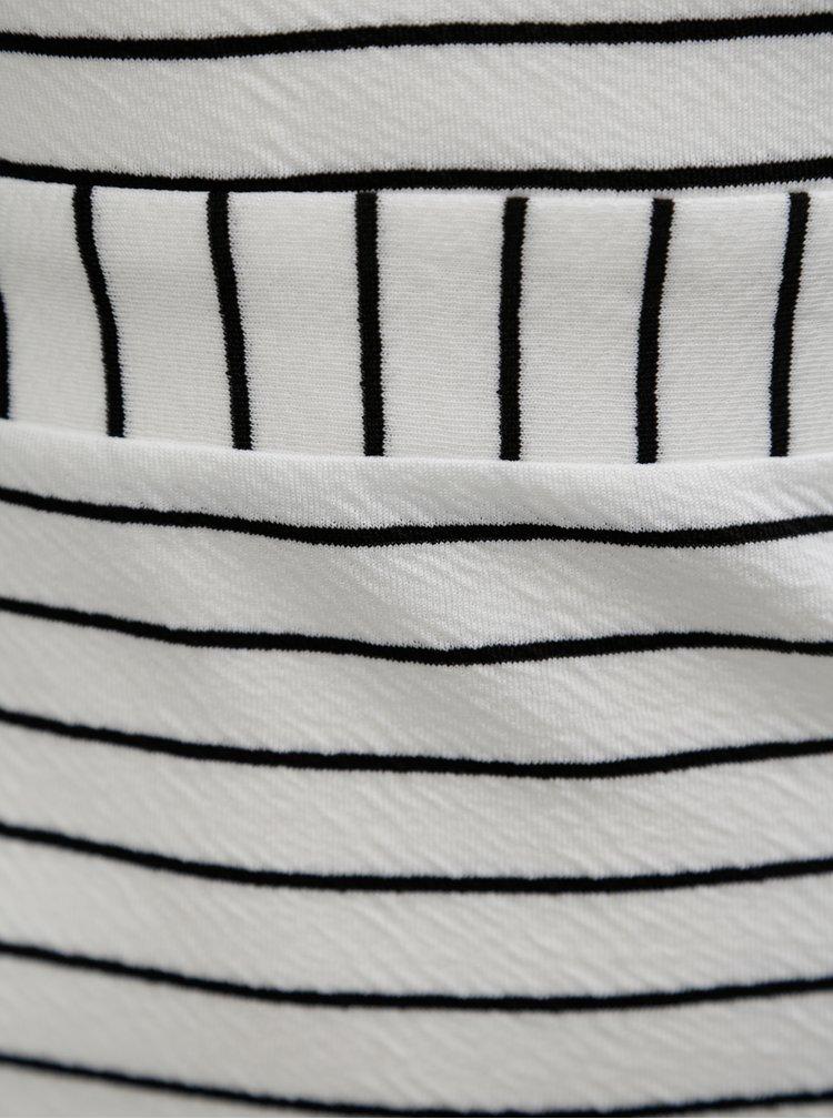 Bílé pruhované šaty na ramínka Miss Selfridge