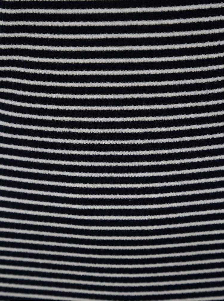 Tmavě modré pruhované basic tričko Jacqueline de Yong Christine