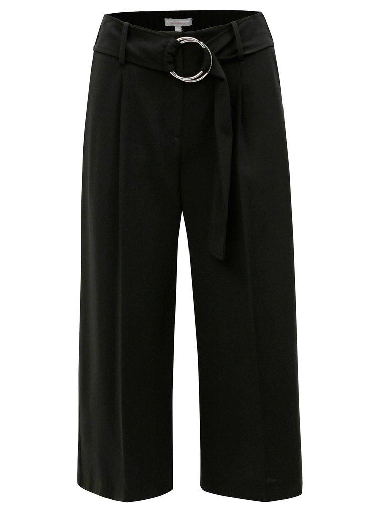 Pantaloni culottes negri cu talie inalta Dorothy Perkins Petite