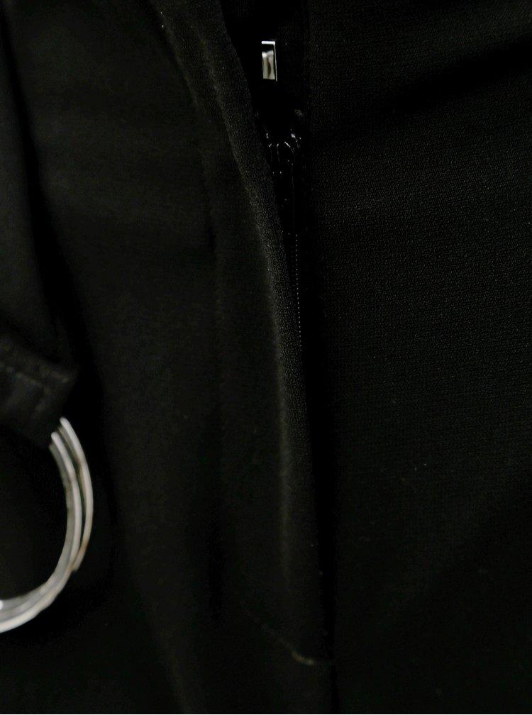 Černé culottes s vysokým pasem Dorothy Perkins Petite