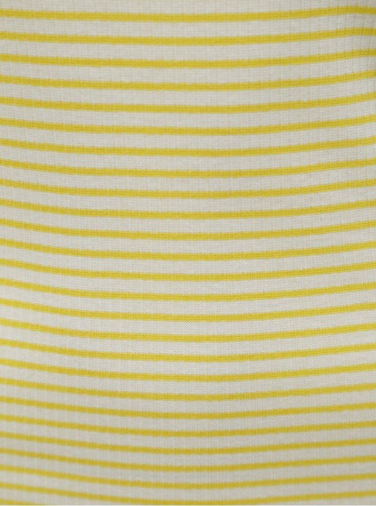 Tricou alb-galben in dungi Jacqueline de Yong Christine