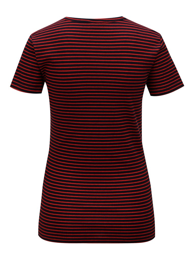 Modro-červené pruhované basic tričko Jacqueline de Yong Christine