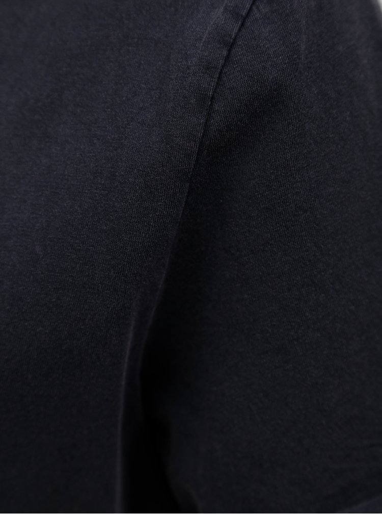 Tmavě modré oversize tričko Jacqueline de Yong Darry