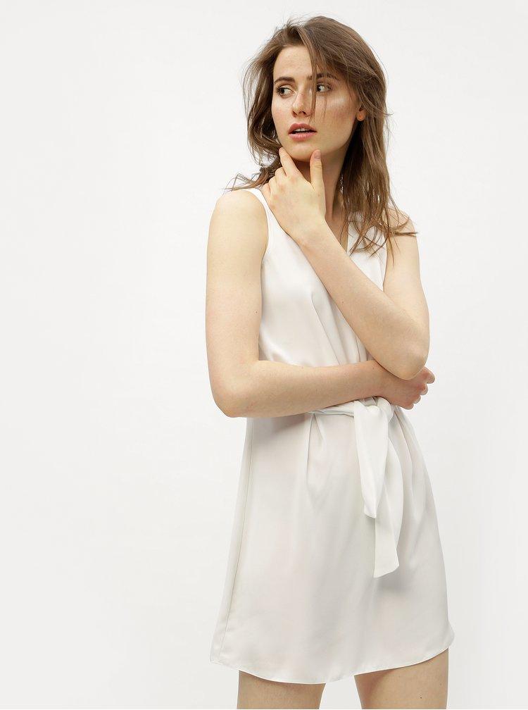 Bílé šaty s uzlem Miss Selfridge