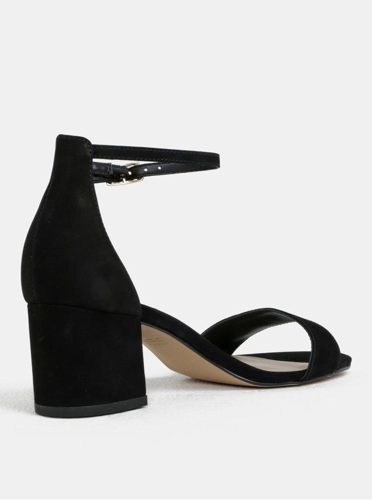 Černé kožené sandálky ALDO Villarosa