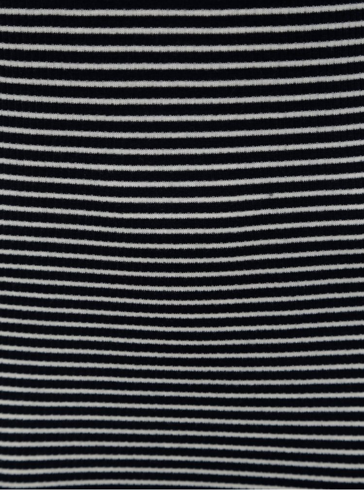 Tmavě modré pruhované basic maxišaty Jacqueline de Yong Christine