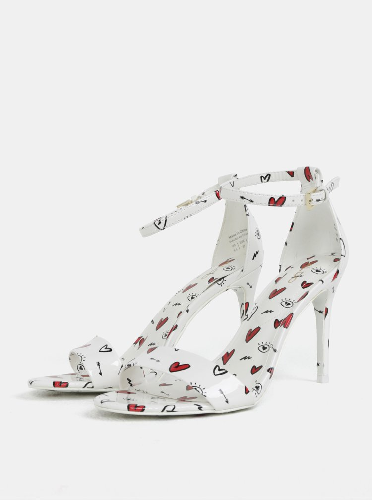Sandale albe cu model ALDO Cally