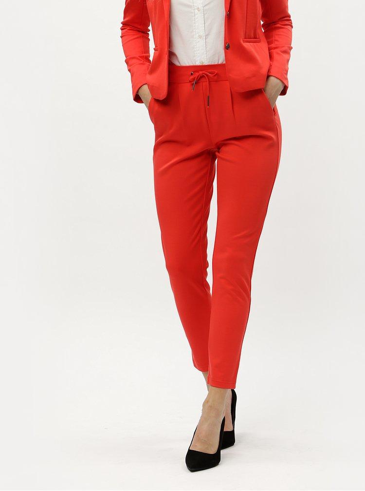 Červené kostýmové kalhoty ONLY Poptrash